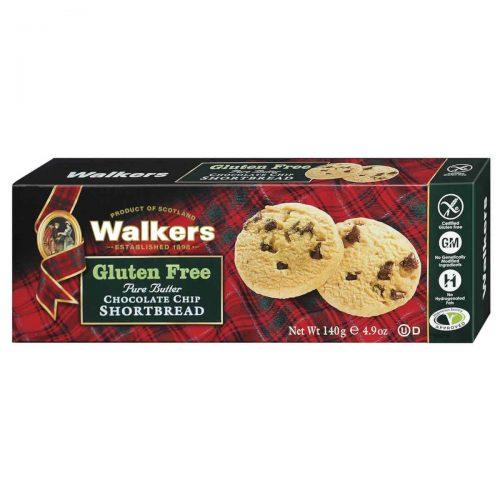 Top Food Feinkost - Walkers Shortbread Ltd. Gluten Free Chocolate Chip Shortbread 140g. Chocolate Chip Shortbread ohne Gluten