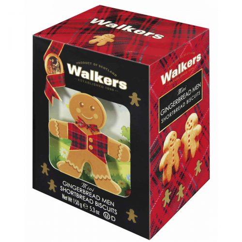 Top Food Feinkost - Walkers Shortbread Ltd. Mini Gingerbread Men 150g - 3D Karton. Geschenkkarton in 3D-Optik