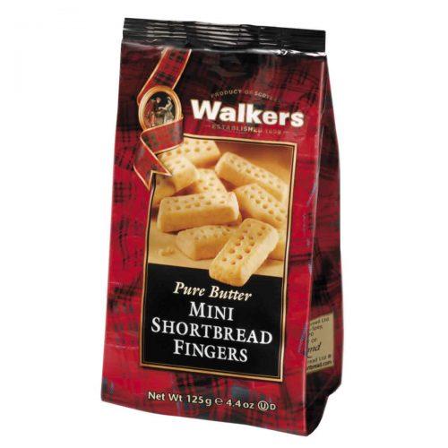 Top Food Feinkost - Walkers Shortbread Ltd. Mini Shortbread Fingers - Snack Pack 125g. Mini Shortbread Fingers im wiederverschließbaren Cellobeutel