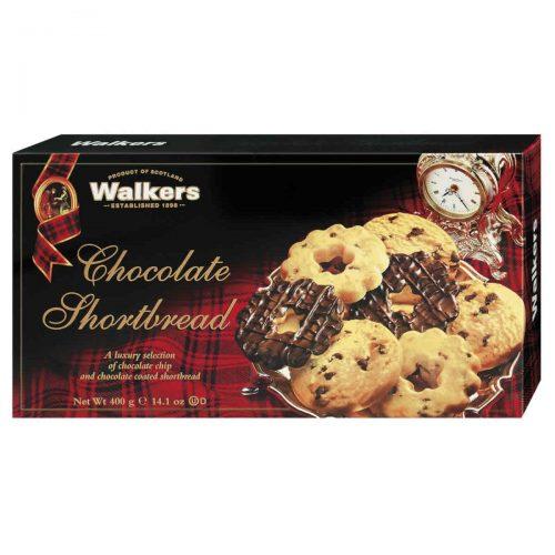 Top Food Feinkost - Walkers Shortbread Ltd. Luxury Chocolate Shortbread Selection 400g. Gebäckmischung der beliebtesten Shortbread Sorten mit Schokolade