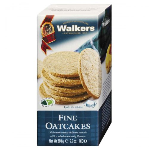 Top Food Feinkost - Walkers Shortbread Ltd. Fine Oatcakes 280g. Schottisches Hafergebäck extra fein