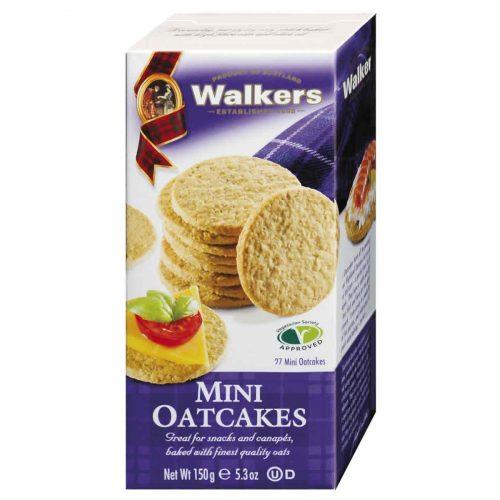 Top Food Feinkost - Walkers Shortbread Ltd. Mini Oatcakes 150g. Schottisches Hafergebäck in Miniform