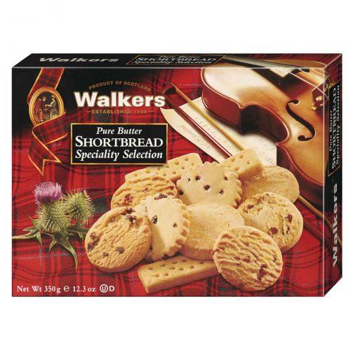 Top Food Feinkost - Walkers Shortbread Ltd. Shortbread Speciality Selection 350g. Gebäckmischung mit fünf verschiedenen Sorten: Fingers