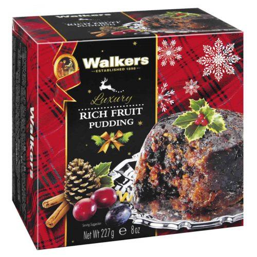"""Top Food Feinkost - Walkers Shortbread Ltd. Luxury Rich Fruit Pudding 227g. Original schottischer Weihnachtspudding """"Plum Pudding"""""""