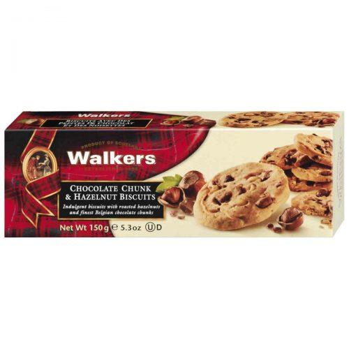 Top Food Feinkost - Walkers Shortbread Ltd. Chocolate Chunk & Hazelnut Biscuits 150g. Haselnusscookie mit Stücken aus belgischer Vollmilchschokolade