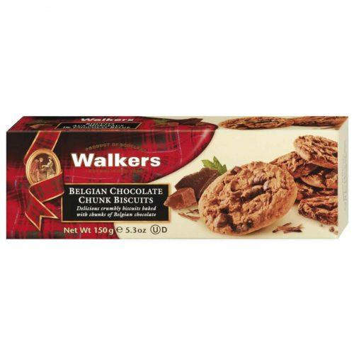 Top Food Feinkost - Walkers Shortbread Ltd. Belgian Chocolate Chunk Biscuits 150g. Schokoladencookies mit vielen Schokostückchen