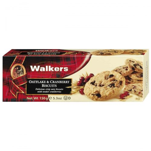 Top Food Feinkost - Walkers Shortbread Ltd. Oatflake & Cranberry Biscuits 150g. Schottische Cookies mit Haferflocken und Cranberries
