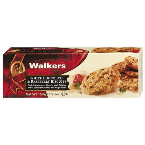 Top Food Feinkost - Walkers Shortbread Ltd. White Chocolate & Raspberry Biscuits 150g. Himbeercookies mit weißer Schokolade