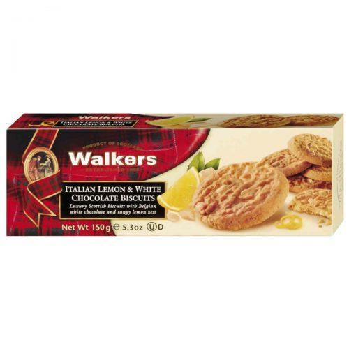 Top Food Feinkost - Walkers Shortbread Ltd. Italian Lemon & White Chocolate Bisuits 150g. Zitronencookies mit weißer Schokolade
