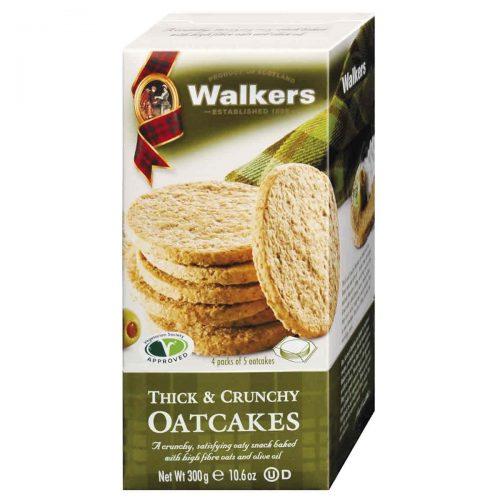 Top Food Feinkost - Walkers Shortbread Ltd. Thick & Crunchy Oatcakes 300g. Original schottisches Hafergebäck mit Weizenkleie