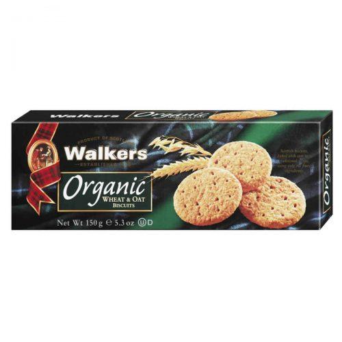 Top Food Feinkost - Walkers Shortbread Ltd. Organic Wheat & Oat Biscuits - BIO 150g. Schottische Vollcorncookies aus Bio-Getreide und einem Hauch Honig