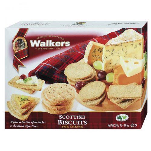 Top Food Feinkost - Walkers Shortbread Ltd. Scottish Biscuits for Cheese 250g. Gebäckmischung aus Weizen-Hafergebäck und reinem Weizengebäck in verschiedenen Formen