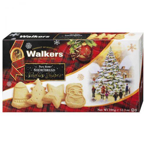 Top Food Feinkost - Walkers Shortbread Ltd. Festive Shapes Shortbread 350g. Shortbread in weihnachtlichen Formen: Glocke