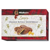 Top Food Feinkost - Walkers Shortbread Ltd. Luxury Orange Royals Shortbread 150g. Luxuriöses Shortbread mit kandierter Orange