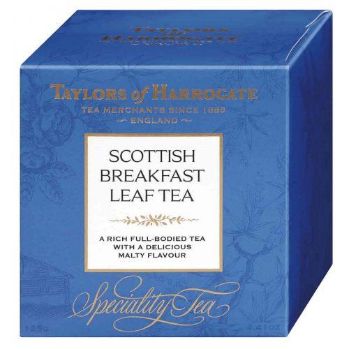 Top Food Feinkost - Taylors of Harrogate Scottish Breakfast Leaf Tea 125g - lose. Schottische Teemischung aus bester Assam-Qualität sowie afrikanischen Tees in einer hübschen Geschenkpackung
