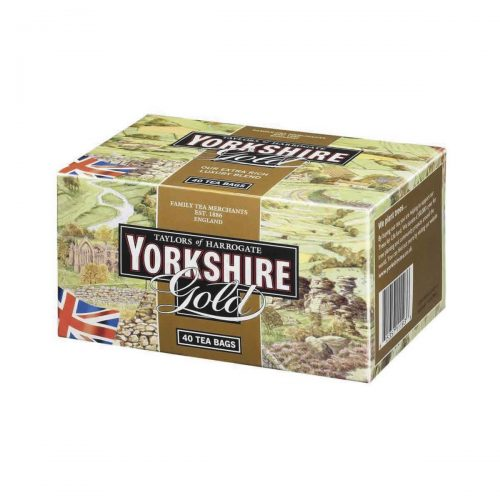 "Top Food Feinkost - Taylors of Harrogate Yorkshire Gold Tea 125g - 40 Teebeutel. 40 Teebeutel des beliebten Yorkshire Tea's  in der eleganten Mischung ""Gold"""