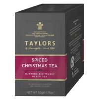 Top Food Feinkost - Taylor's of Harrogate Spiced Christmas Tea 50g - 20 Teebeutel. Mischung hochwertiger Schwarztees mit winterlichen Gewürzen verfeinert