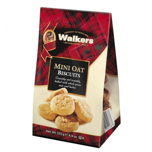 Top Food Feinkost - Walkers Shortbread Ltd. Mini Oatmeal Biscuits 125g - Mini Bag. Mini Hafer Cookies im wiederverschließbaren Cellobeutel