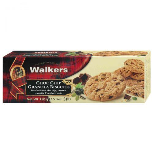 Top Food Feinkost - Walkers Shortbread Ltd. Choc Chip Granola Biscuits 150g. Knusprige Cookies mit Hafer