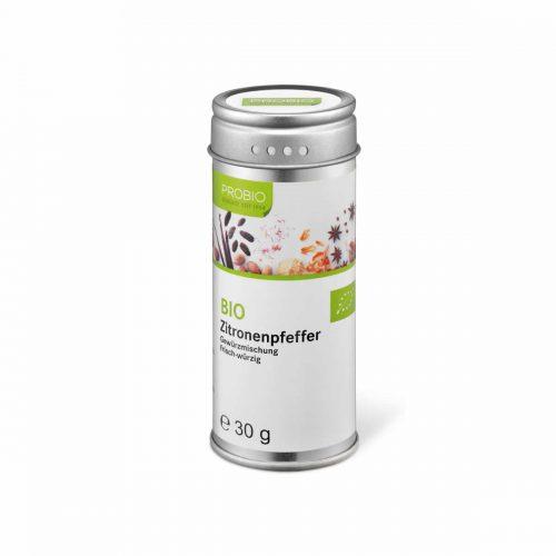 Top Food Feinkost - Probio Zitronenpfeffer BIO grob gemahlen 30g. Gewürzmischung - frisch-würzig