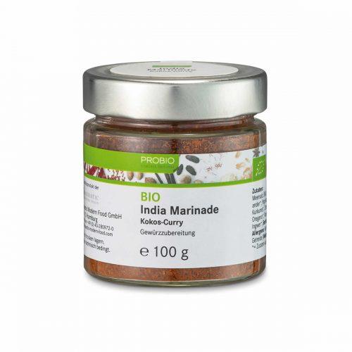 Top Food Feinkost - Probio India Marinade BIO 100g. Gewürzzubereitung - Kokos-Curry