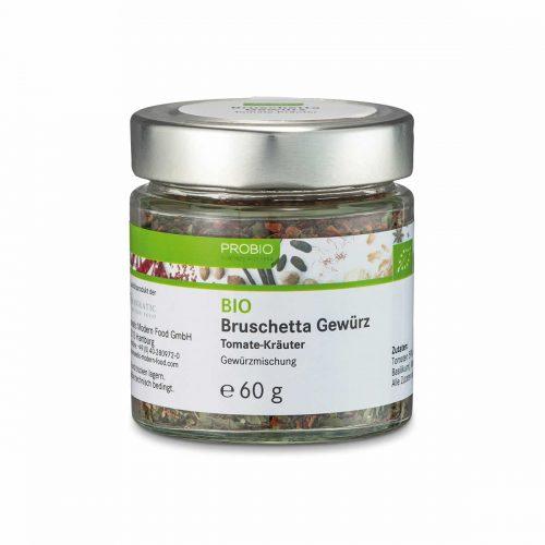 Top Food Feinkost - Probio Bruschetta Gewürz BIO 60g. Gewürzmischung - Tomate-Kräuter