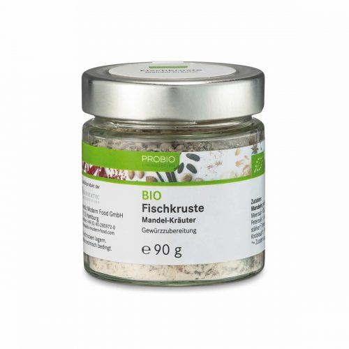 Top Food Feinkost - Probio Fischkruste  BIO 90g. Gewürzzubereitung - Mandel-Kräuter