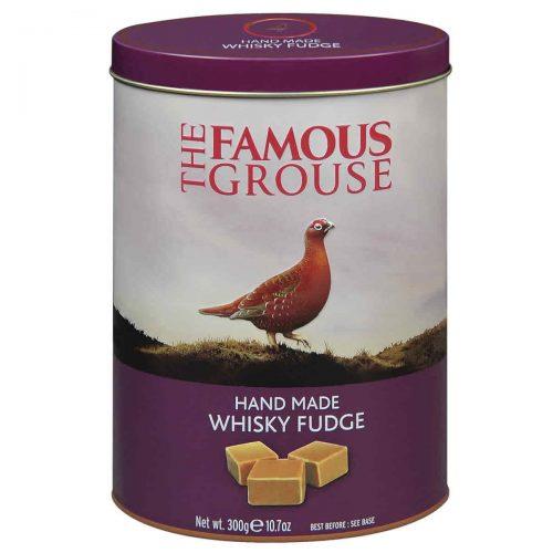 Top Food Feinkost - Gardiners of Scotland Famous Grouse Whisky Fudge 300g - Dose. Weiches Butterkaramell mit einem Schuss Famous Grouse Blended Scotch Whisky in einer hochwertigen Reliefdose