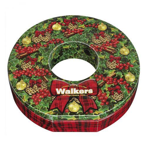 """Top Food Feinkost - Walkers Shortbread Ltd. """"Christmas Wreath"""" Chocolate Cookies 350g - Dose. Herrlich schokoladiger Keks mit 3 verschiedenen Sorten Schokoladenstückchen gebacken"""