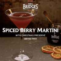 Top Food Feinkost - Spiced Berry Martini mit Mrs. Bridges Christmas Preserve