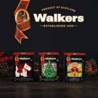 Top Food Feinkost - Walkers 3D Cartons für Weihnachten