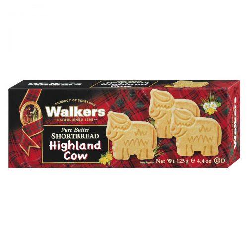 "Top Food Feinkost - Walkers Shortbread Ltd. ""Highland Cow Shapes"" Shortbread 125g. Schottisches Buttergebäck in Form der berühmten Highland Cows"