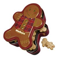 "Top Food Feinkost - Walkers Shortbread Ltd. ""Gingerbread Man"" Mini Shortbread 300g - Dose. Hochwertige Reliefdose"
