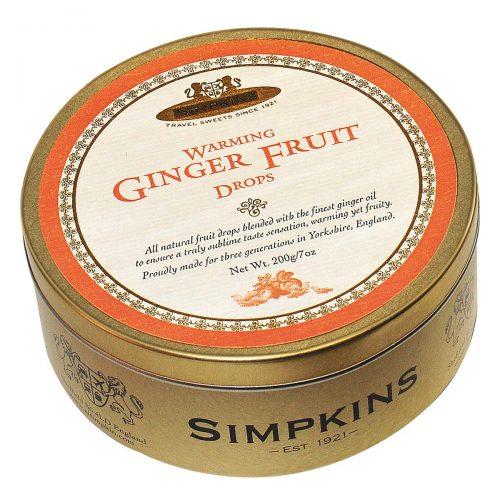 Top Food Feinkost - Simpkins Ginger Fruit Drops 200g