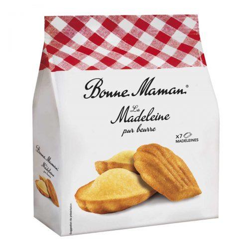 Top Food Feinkost - Bonne Maman La Madeleine pur beurre 175g. Klassische französische Madeleines mit Butter und frischen Eiern gebacken. 7 Stück einzeln verpackt