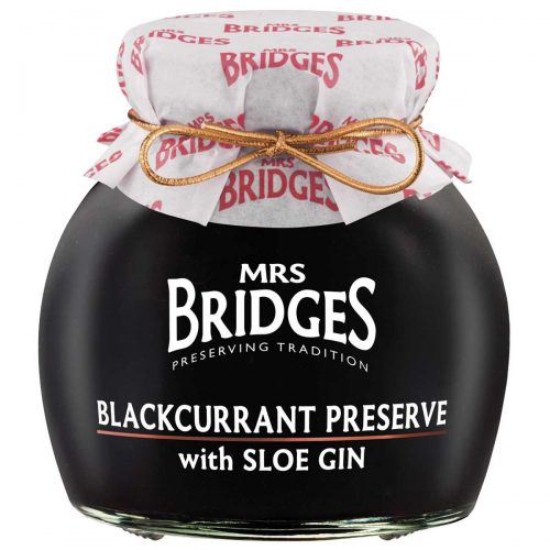 Top Food Feinkost - Mrs. Bridges Blackcurrant Preserve with Sloe Gin 340g