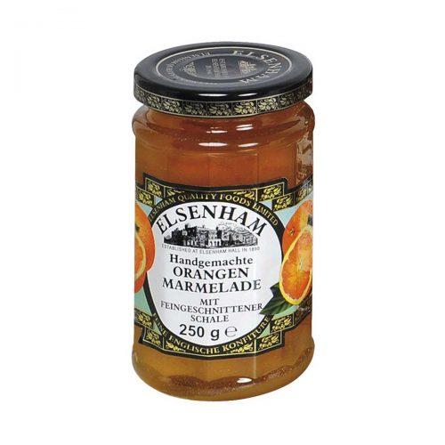 Top Food Feinkost - Elsenham Orangen Marmelade fein geschnitten 250g |Handgemachte Orangen Marmelade mit fein geschnittener Schale