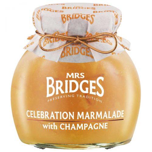 Top Food Feinkost - Mrs Bridges Celebration Marmalade with Champagne 340g |Orangen Marmelade mit fein geschnittener Schale