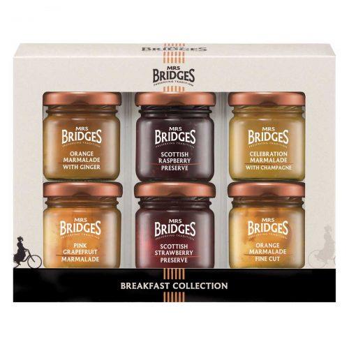 Top Food Feinkost - Mrs Bridges Breakfast Collection Mini Pack 6x42g |Frühstücksauswahl mit 6 verschiedenen Marmeladesorten