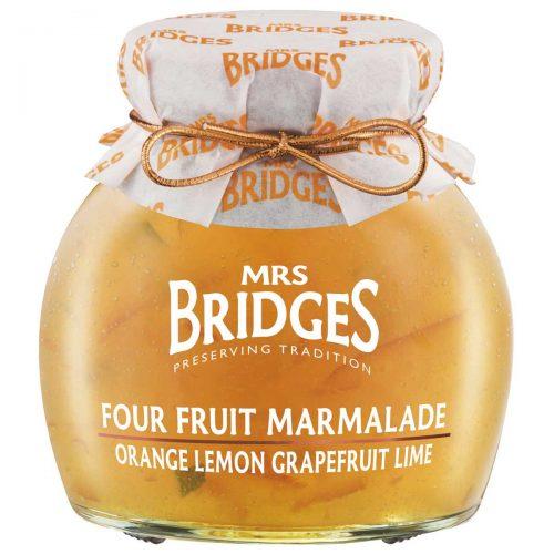 Top Food Feinkost - Mrs Bridges Four Fruit Marmalade 340g |Vierfrucht Marmelade aus Orangen