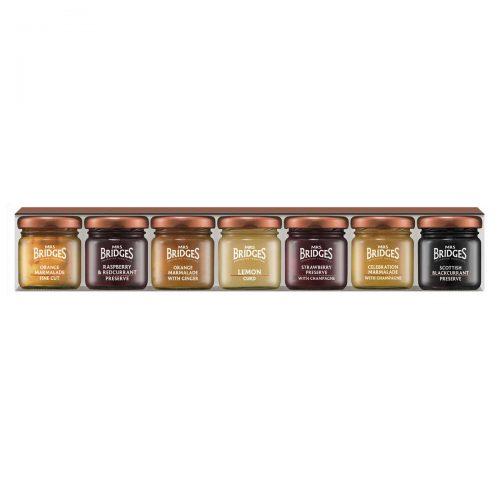Top Food Feinkost - Mrs Bridges 7 Days of Preserves and Marmalades 7x42g |Frühstücksauswahl mit 6 verschiedenen Marmeladen und Curd