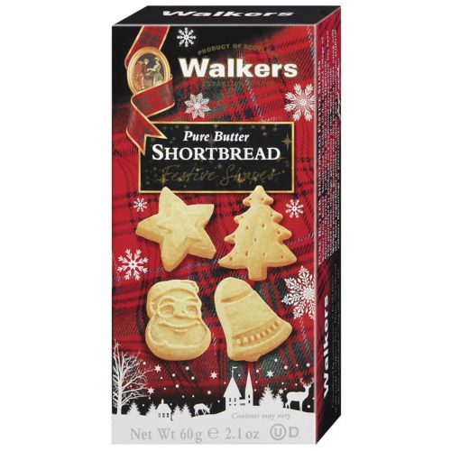 Top Food Feinkost - Walkers Shortbread Ltd. Festive Shapes Shortbread 60g | Shortbread in weihnachtlichen Formen: Glocke