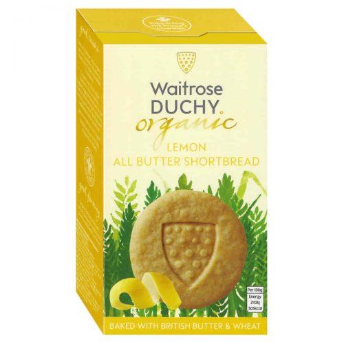 Top Food Feinkost - Waitrose Duchy Organic Lemon Shortbread - BIO 150g |Bio-Buttergebäck mit frischer Butter und Zitrone