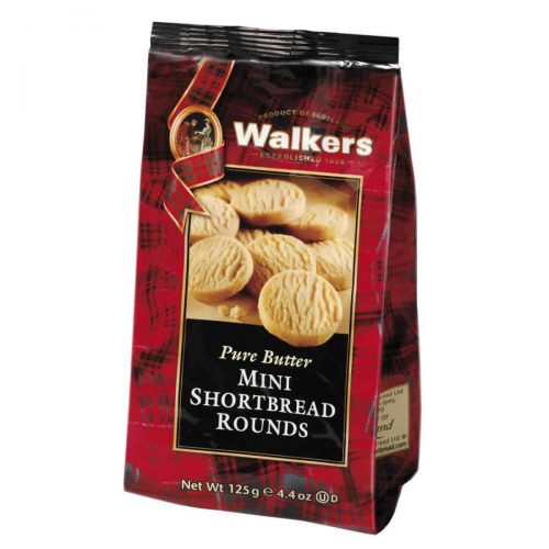 Top Food Feinkost - Walkers Shortbread Ltd. Mini Shortbread Rounds 125g | Mini Shortbread Rounds im wiederverschließbaren Cellobeutel
