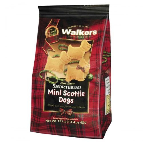 Top Food Feinkost - Walkers Shortbread Ltd. Mini Scottie Dogs 125g | Kleine Scottie Dogs Shortbread im Cellobeutel