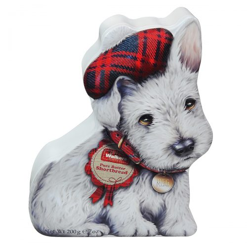 Top Food Feinkost - Walkers Shortbread Ltd. Wee Scottie Dog Mac Shortbread 200g - Dose | Original schottisches Shortbread in Hunde-Form