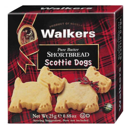 Top Food Feinkost - Walkers Shortbread Ltd. Scottie Dogs 2er Shortbread Pack 25g | Kleine Scottie Dogs Shortbread in der 2er Packung