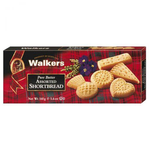 Top Food Feinkost - Walkers Shortbread Ltd. Pure Butter Assorted Shortbread 160g |Kleine Gebäckmischung mit verschiedenen Sorten Shortbread