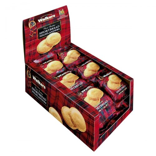 Top Food Feinkost - Walkers Shortbread Ltd. Shortbread Highlanders 2er 40g | Schottisches Buttergebäck in der klassischen Highlanders Form