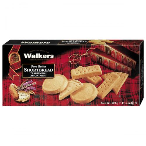 Top Food Feinkost - Walkers Shortbread Ltd. Traditional Shortbread Assortment 500g | Gebäckmischung mit den drei beliebtesten Sorten: Fingers